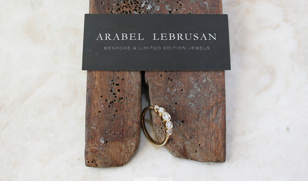 Arabel Lebrusan Customer Testimonial Amy B_2_bespoke_Recycled YG_total 03ct conflict free diamonds