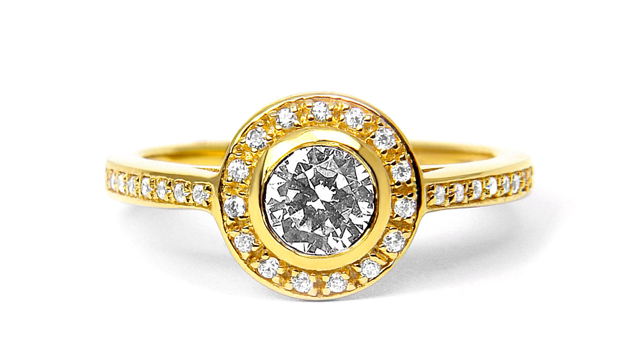 Arabel Lebrusan, Efflorescence Ethical Diamond Engagement Ring, 18ct Fairtrade Gold
