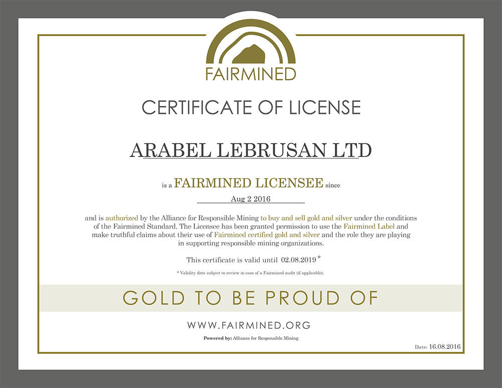 Arabel Lebrusan Fairmined Licensee