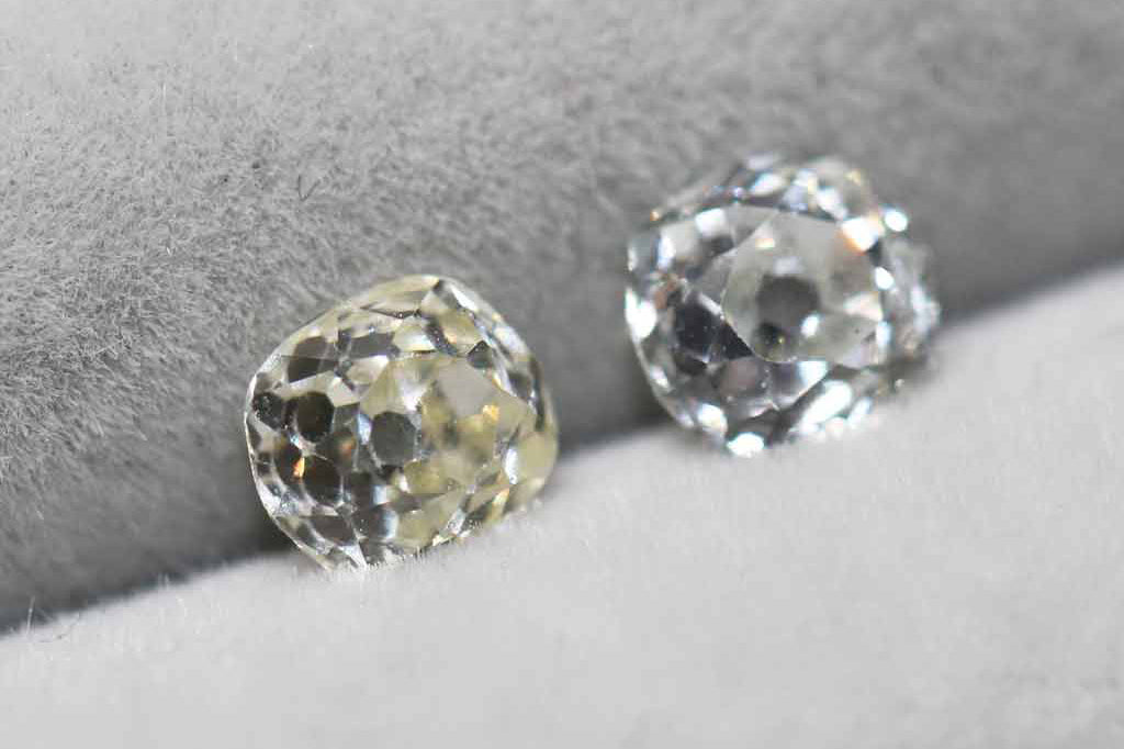 Recycled old-cut vintage diamonds