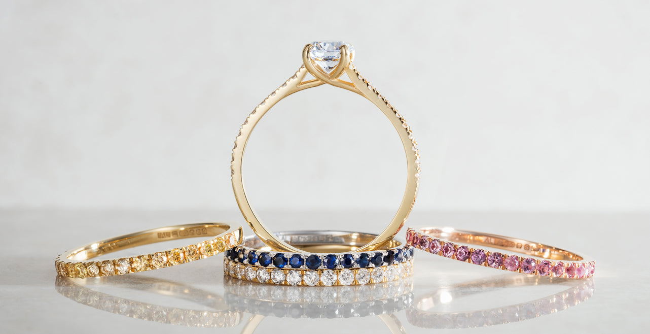 Arabel Lebrusan. Altair engagement ring Collection. Made with Fairmined Gold