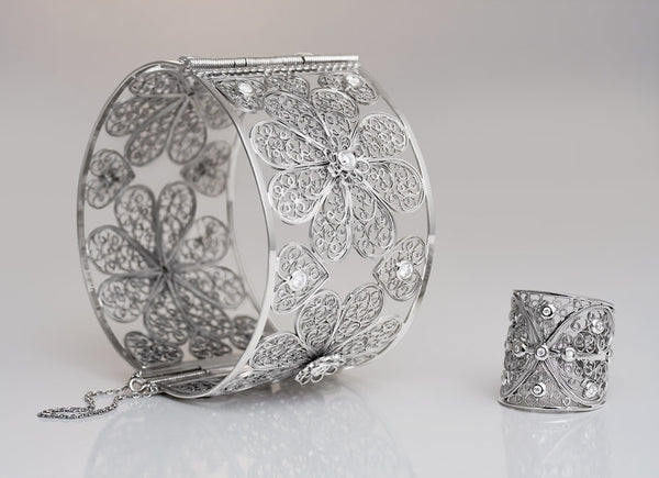 Arabel Lebrusan Filigree Bangle and Ring