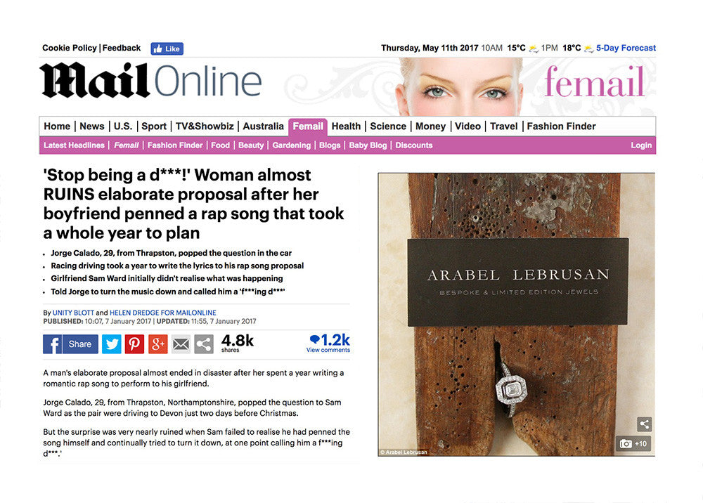 Arabel Lebrusan Jewellery at Mail . Daily Mail