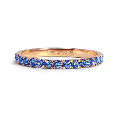 Bespoke Caroline ring - Fairtrade rose gold and fair-traded blue sapphires 2