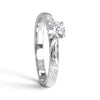 Bespoke Julien engagement ring - Canadian diamond and bespoke leaf engraving