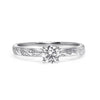 Bespoke Julien engagement ring - Canadian diamond and bespoke leaf engraving 2