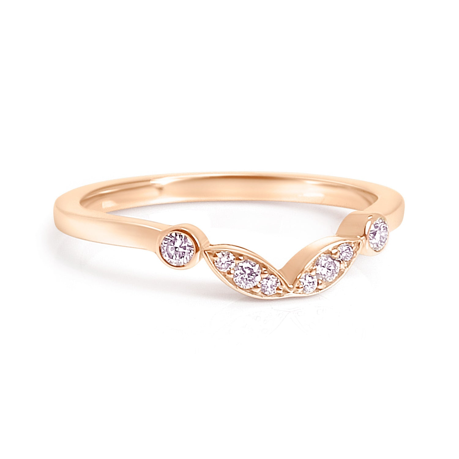 Bespoke Claire engagement ring - Fairtrade rose gold, conflict-free diamonds and unique tailored shape