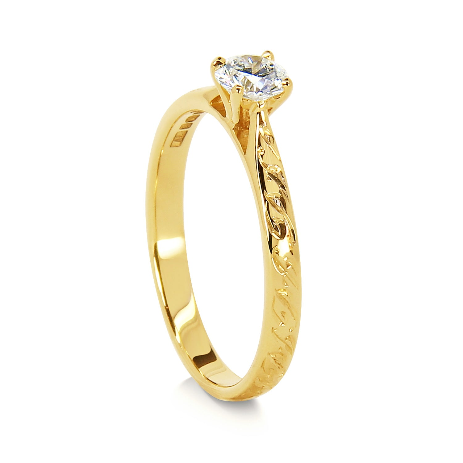 Bespoke Patrick engagement ring - Fairmined Ecological Gold and Canadamark diamond