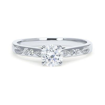 Abs Bespoke Solitaire Ring, 100% recycled platinum and Canadamark diamonds 2