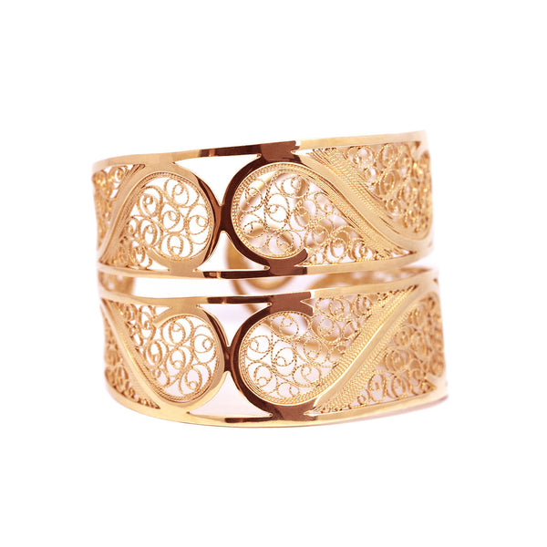 Filigree Links Bangle. Rose gold - Arabel Lebrusan