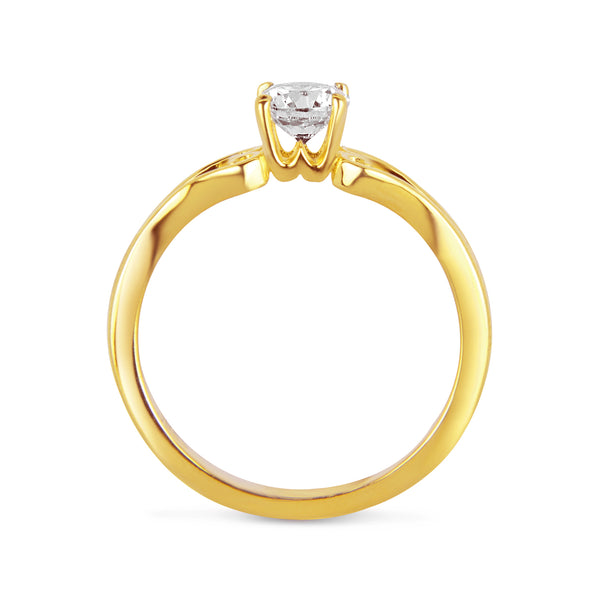 Giardini Ethical Diamond Engagement Ring, 18ct Fairtrade Gold