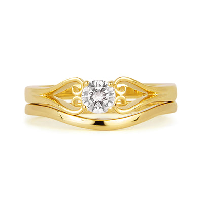 Accademia Ethical Wedding Ring, 18ct Ethical Gold