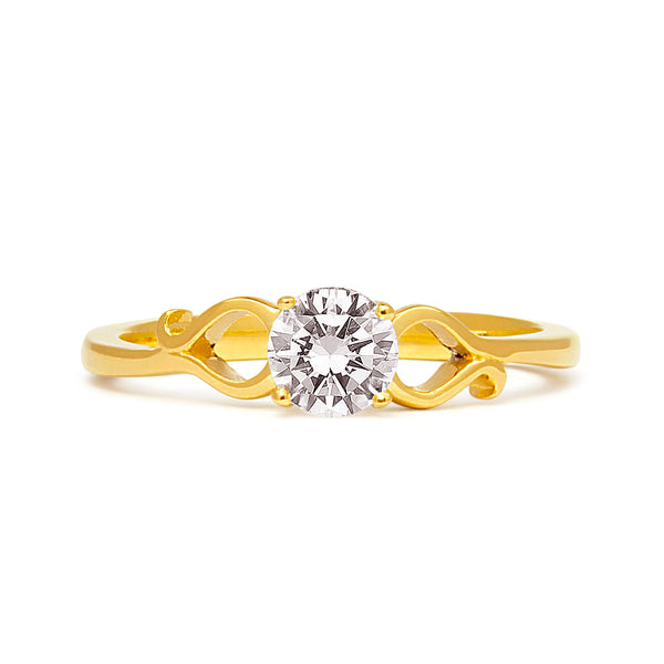 Lido Ethical Diamond Engagement Ring, 18ct Fairtrade Gold