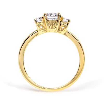 Aphrodite Ethical Diamond Engagement Ring, Fairtrade Gold
