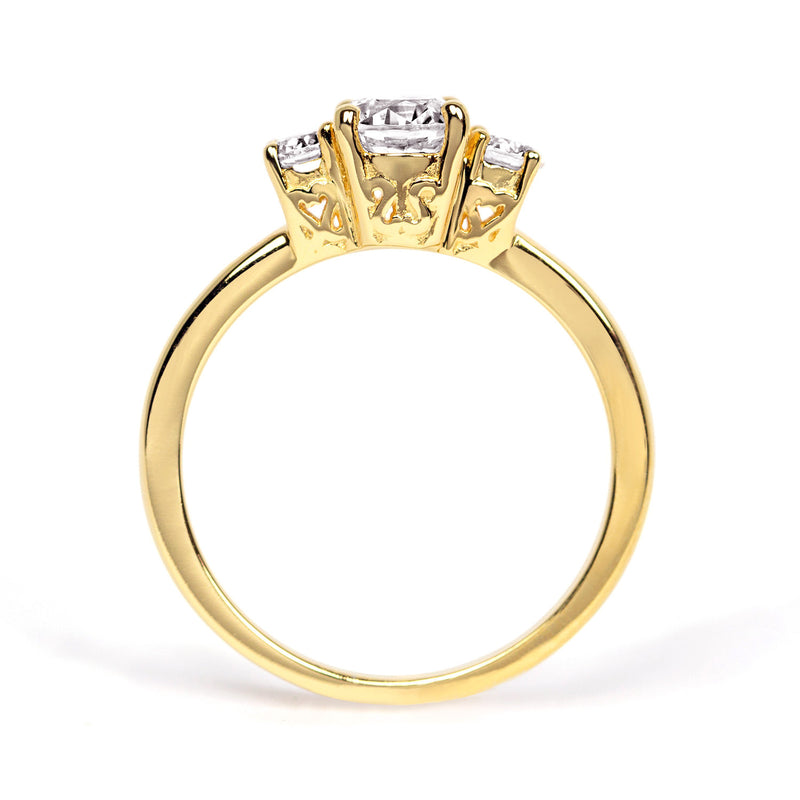 Aphrodite Ethical Diamond Engagement Ring, 18ct Fairtrade Gold