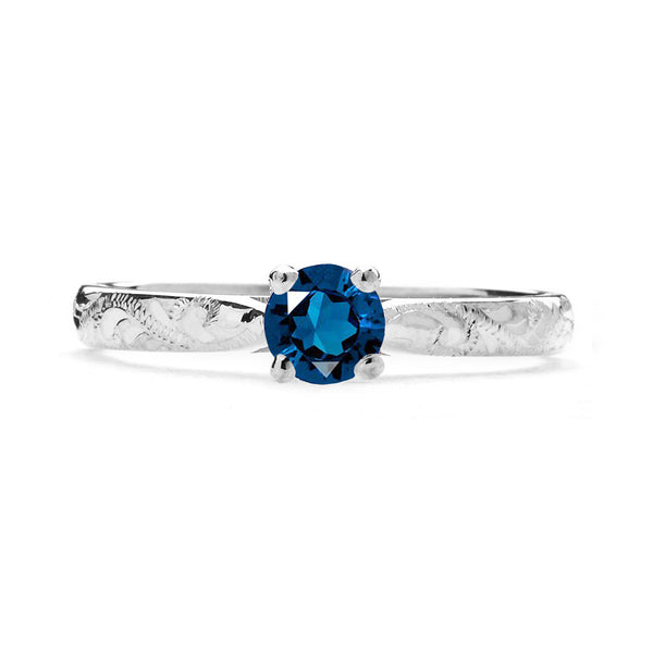 Athena Ethical Sapphire Platinum Gemstone Engagement Ring - Arabel Lebrusan