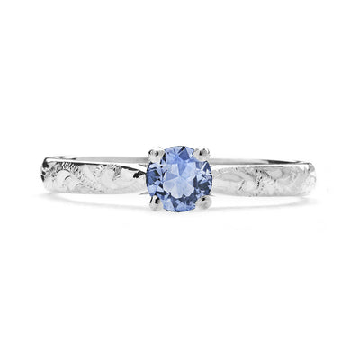 Athena Ethical Light Blue Sapphire Gemstone Engagement Ring, 18ct Fairtrade Gold - Arabel Lebrusan