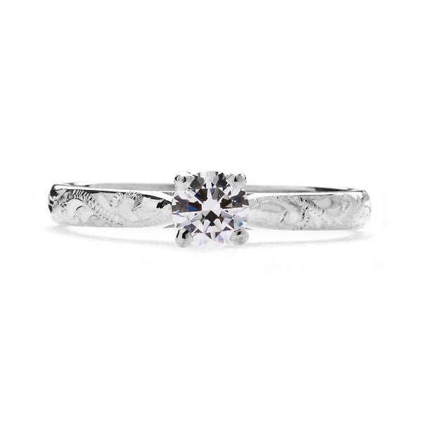 Athena Ethical Diamond Platinum Engagement Ring - Arabel Lebrusan