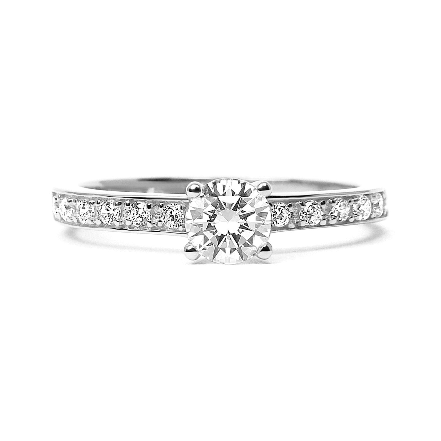 Aurora Borealis Ethical Diamond Platinum Engagement Ring