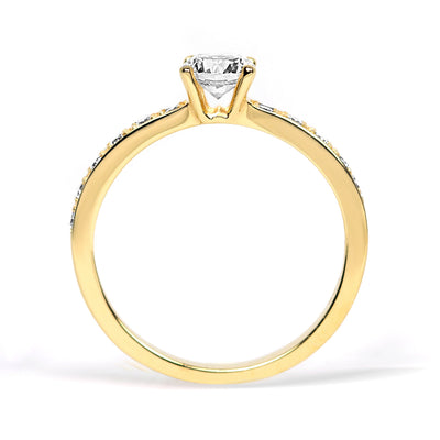 Aurora Borealis Ethical Diamond Engagement Ring, 18ct Fairtrade Gold
