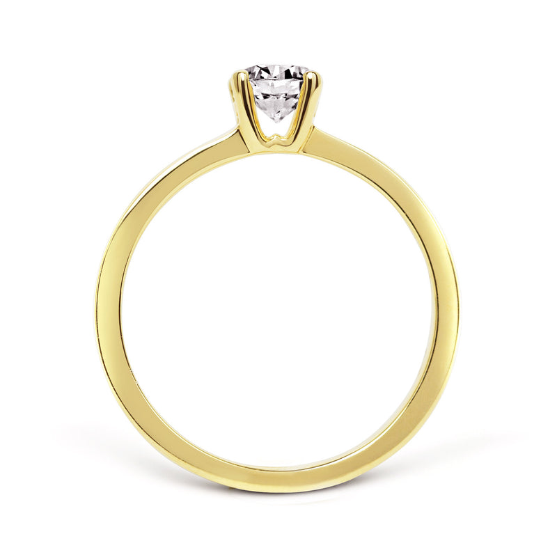 Aurora Ethical Diamond Engagement Ring, 18ct Fairtrade Gold - Arabel Lebrusan