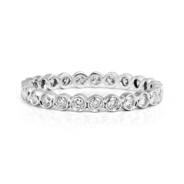 Baroque Full Diamond Platinum Eternity Wedding Ring