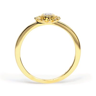 Bellis Ethical Diamond Engagement Ring, 18ct Fairtrade Gold - Arabel Lebrusan