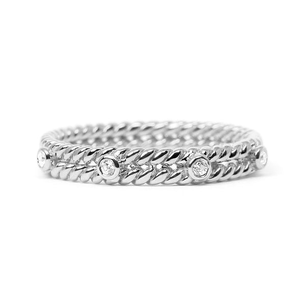 Braided Ethical Diamond Platinum Wedding Ring