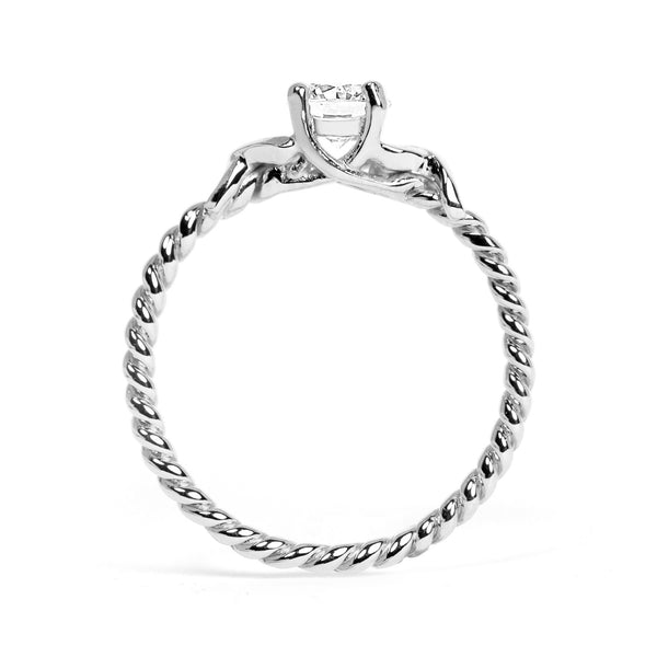 Braided Ethical Diamond Platinum Engagement Ring - Arabel Lebrusan