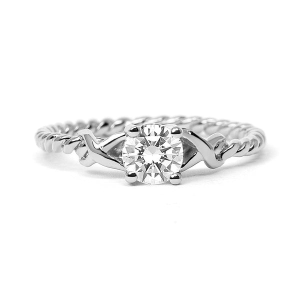 Braided Ethical Diamond Platinum Engagement Ring