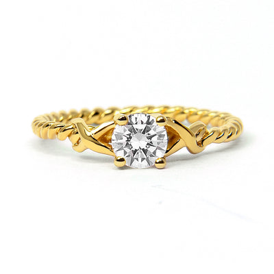 Braided Ethical Diamond Engagement Ring, 18ct Fairtrade Gold - Arabel Lebrusan
