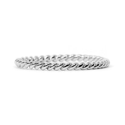 Braided Ethical Platinum Wedding Ring