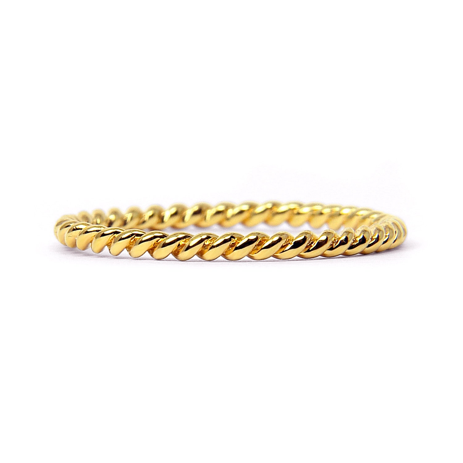 Braided Ethical Gold Wedding Ring