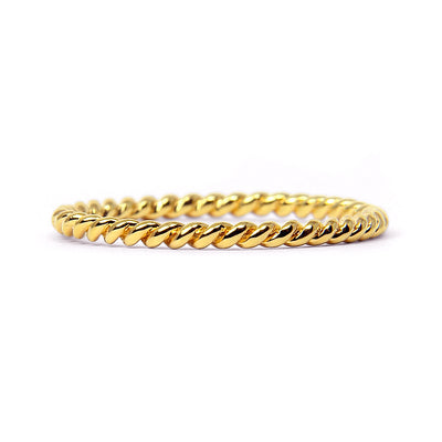 Braided Ethical Gold Wedding Ring, 18ct Ethical Gold
