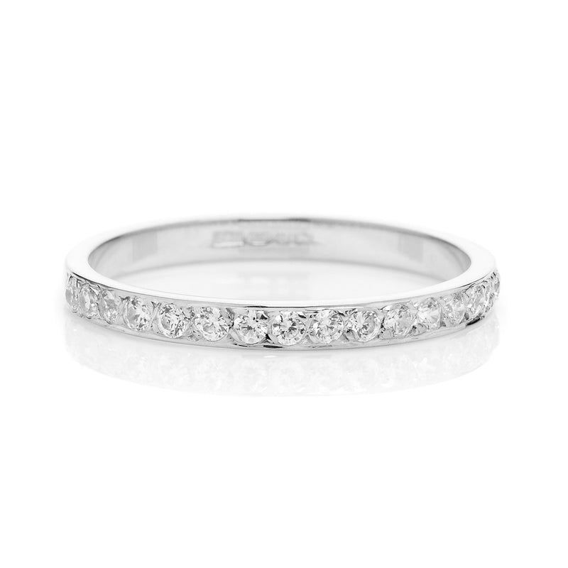 Cherish Full Diamond Ethical Gold Eternity Wedding Ring, 18ct Fairtrade Gold - Arabel Lebrusan