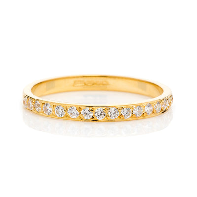 Cherish Half Diamond Ethical Gold Eternity Wedding Ring, 18ct Fairtrade Gold - Arabel Lebrusan