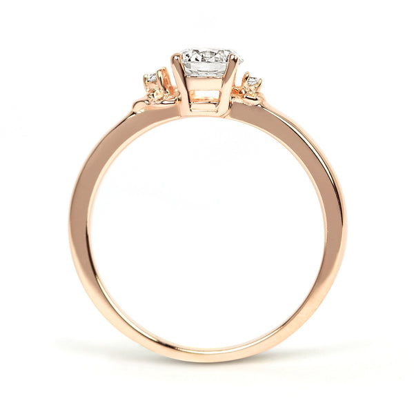 Cherry Blossom Ethical Diamond Engagement Ring, 18ct Fairtrade Gold