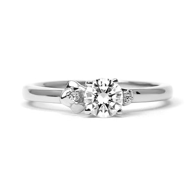 Cherry Blossom Ethical Diamond Engagement Ring, 18ct Fairtrade Gold - Arabel Lebrusan