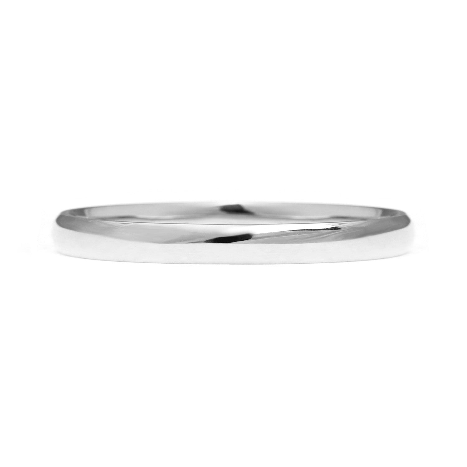 Court Ethical Platinum Wedding Ring, Thin