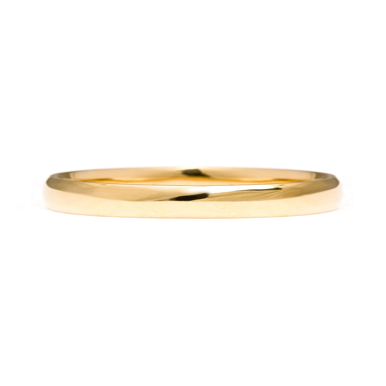 Court Ethical Gold Wedding Ring 2mm - Arabel Lebrusan