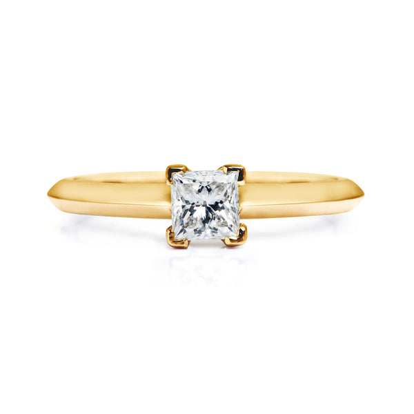 Diana Ethical Diamond Engagement Ring, 18ct Fairtrade Gold