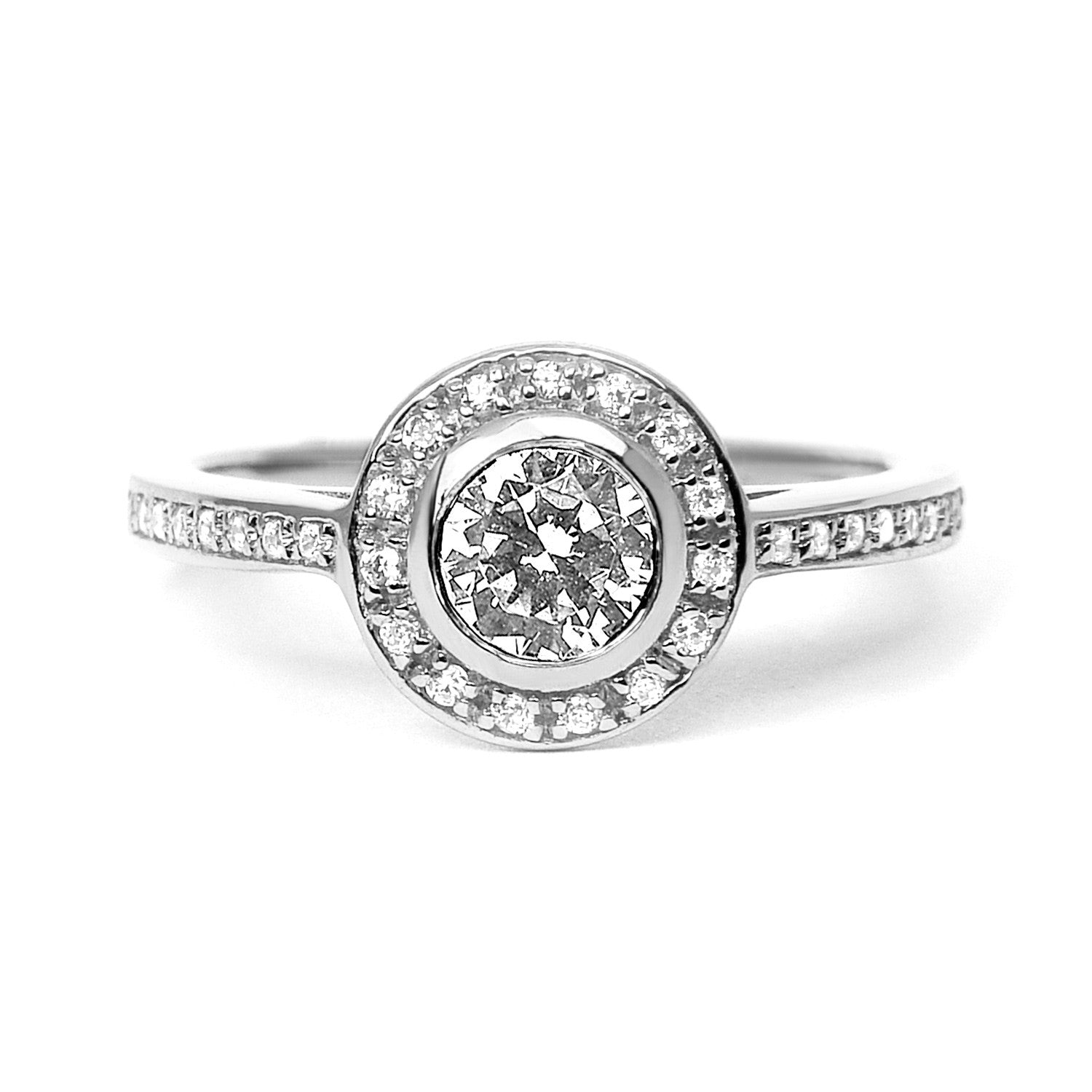 Efflorescence Ethical Diamond Platinum Engagement Ring
