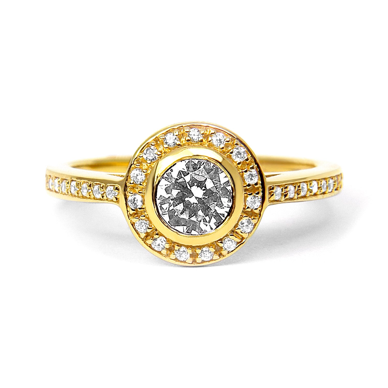 Efflorescence Ethical Diamond Engagement Ring, 18ct Fairtrade Gold - Arabel Lebrusan