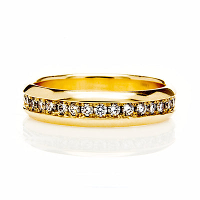 Eternity Full Diamond Ethical Gold Wedding Ring - Arabel Lebrusan