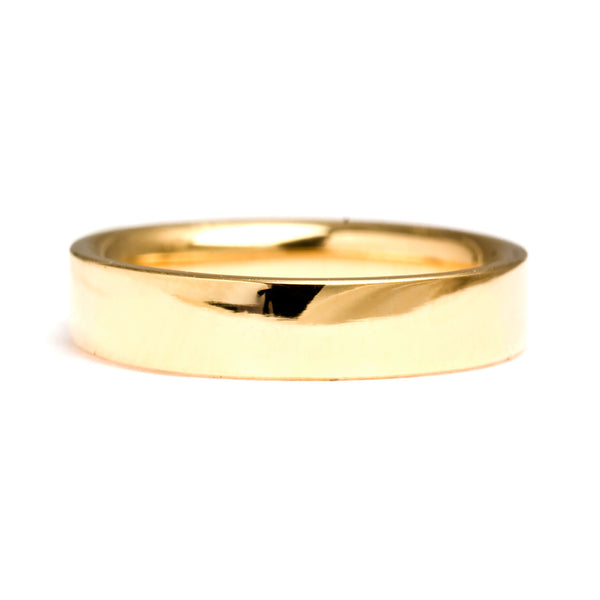 Flat Ethical Gold Wedding Ring 5mm