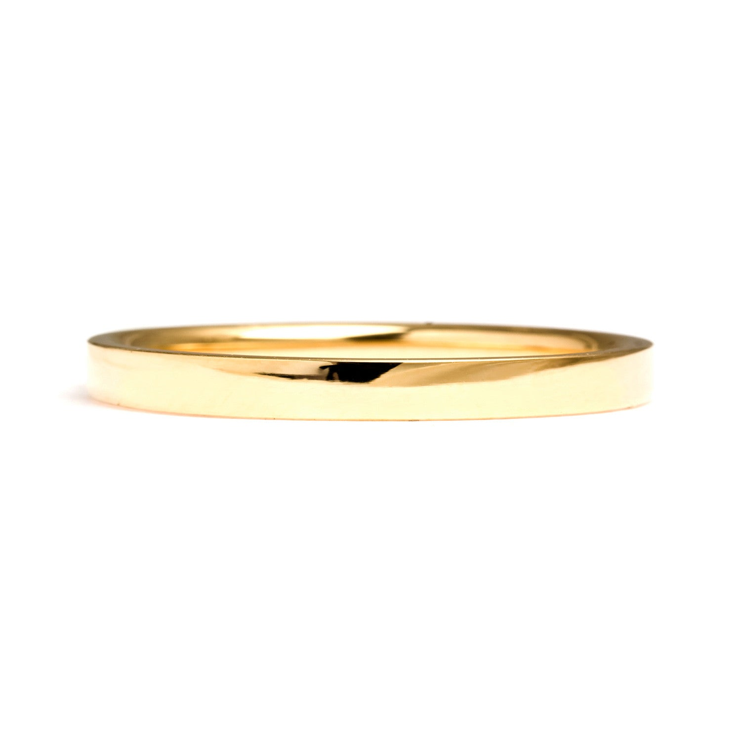 Flat Court Ethical Gold Wedding Ring, Thin