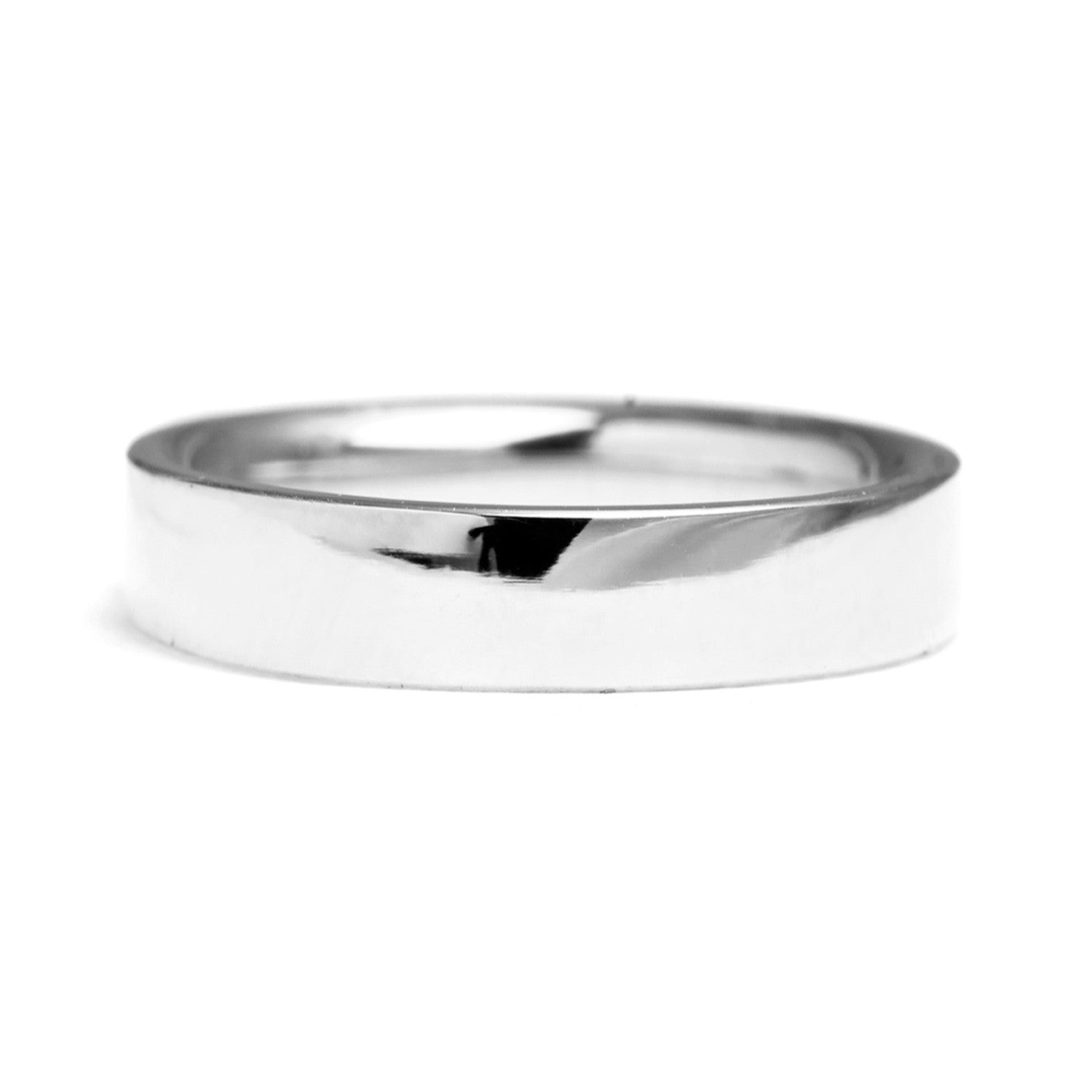 Flat Court Ethical Platinum Wedding Ring, Wide