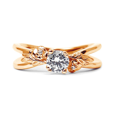Foliage Ethical Diamond Engagement Ring, 18ct Fairtrade Gold