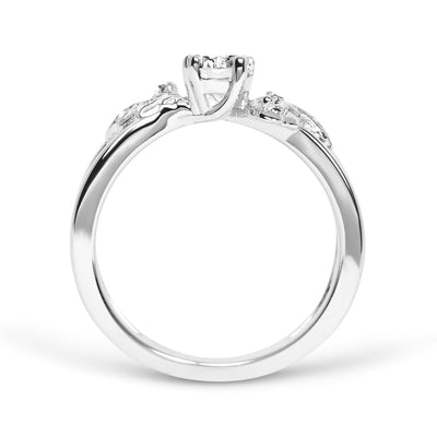 Foliage Ethical Diamond Platinum Engagement Ring
