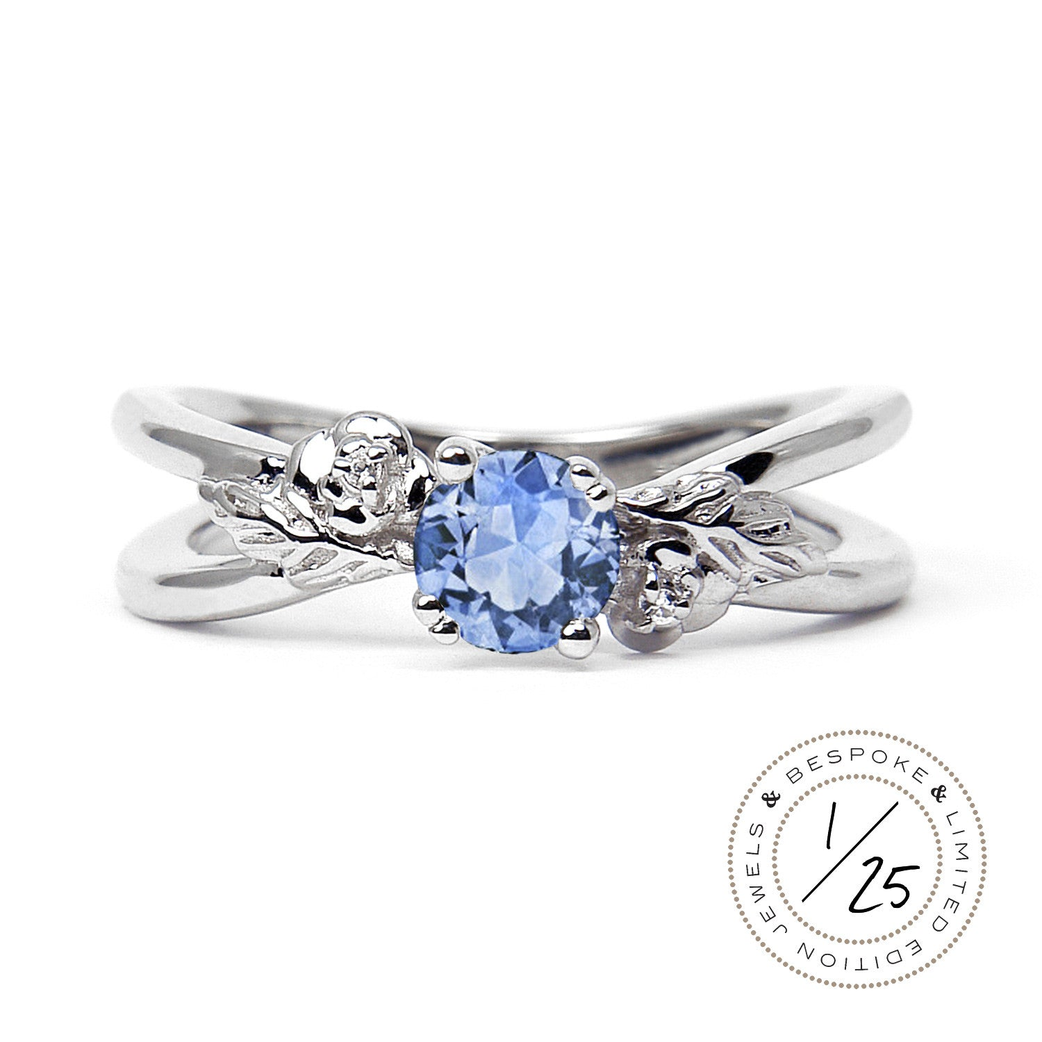 ring sapphire alebrusan products engagement limited bellis blue light edition white ethical gold gemstone fairtrade